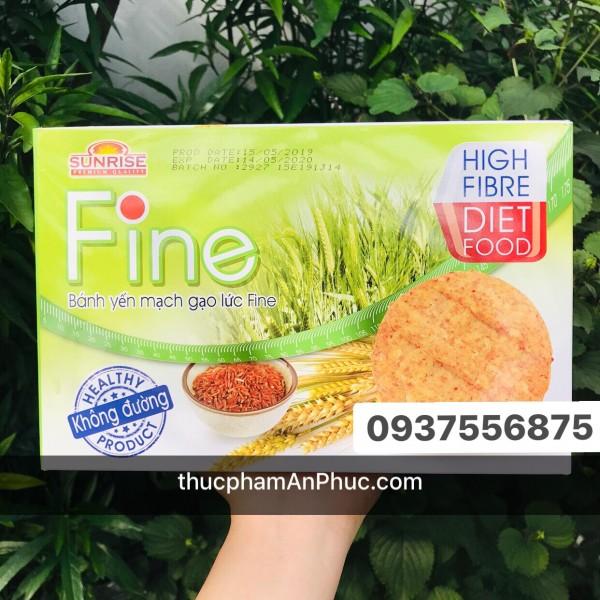 Bánh ăn kiêng gạo lứt yến mạch Fine 178g
