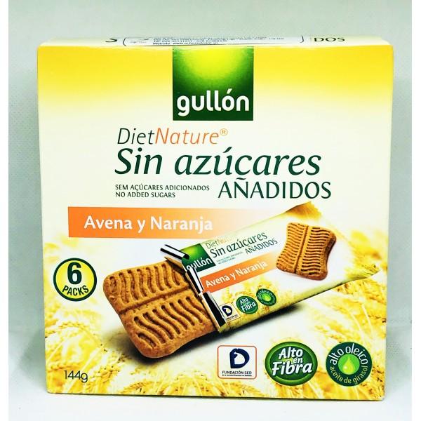 Bánh quy Gullon snack ăn kiêng không đường lúa mạch vị cam 144g