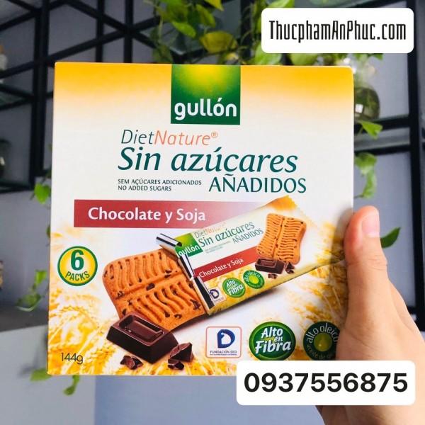 Bánh quy Gullon snack ăn kiêng không đường lúa mạch vị sôcôla 144g