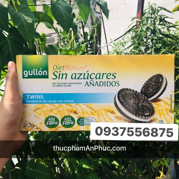 Bánh quy kem Gullon không đường sandwhich de cacao 210g