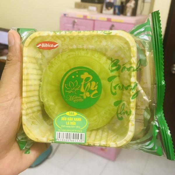Bánh trung thu tiểu đường dẽo đậu xanh lá dứa 180gr