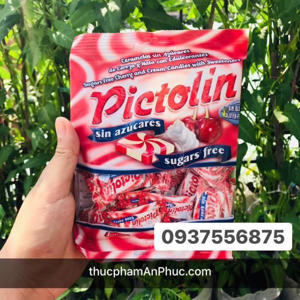 Kẹo Pictolin không đường vị kem sữa và anh đào 65g
