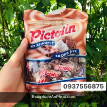 Kẹo Pictolin socola sữa không đường 65g