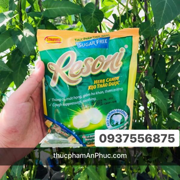 Kẹo thảo dược Resoni vị bạc hà túi 60g